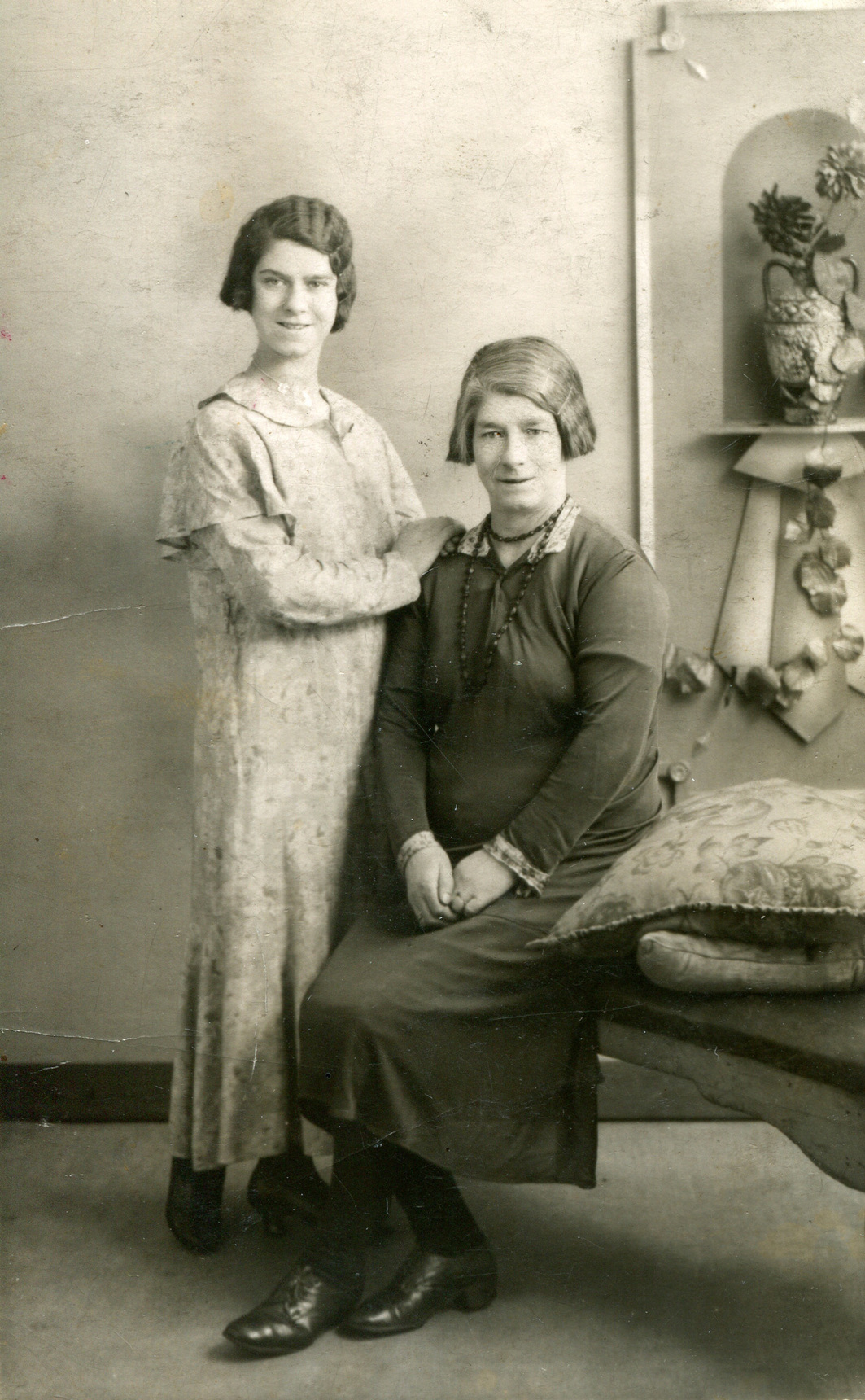 Studio Portrait Mother And Daughter, 5th February 1934