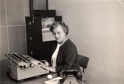 Secretary At Typewriter 1960s