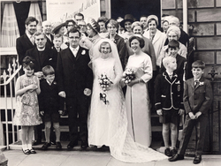 Wedding Reception Party Outside The Claremont Hotel In Claremont Crescent 1968