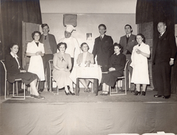 Group Of Players On Stage 1940s