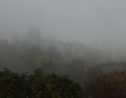 Autumn mist over Castle Rock