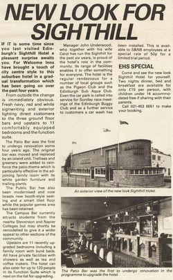 Sighthill Inn Calder Road 1987