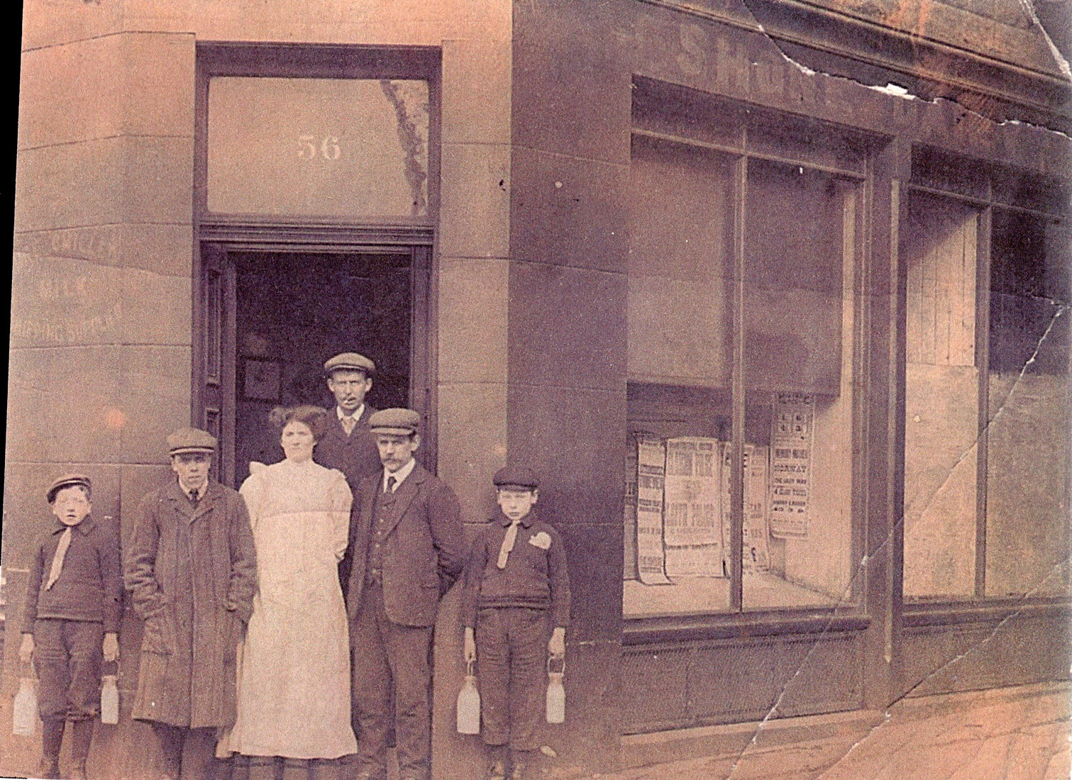 Shore Dairy No.56 Unidentified Leith Street Corner c.1910
