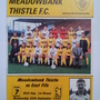 Meadowbank Thistle F. C. programme