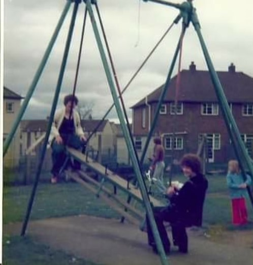 A Swing Park in the Broomhouse area in the 1970s.