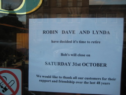 Notice on the door from 1st Oct till the day we closed 31st Oct. This sign was at eye level.