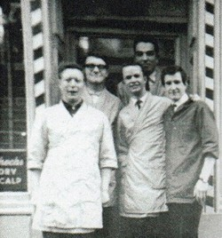 My Father's 5 Barber's photographed in the Doorway of his West Port Shop.
