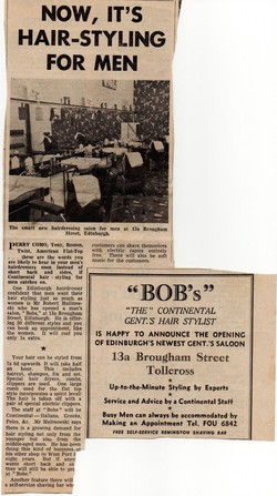 This article and advert appeared in the Evening News when 13a Brougham Street opened.