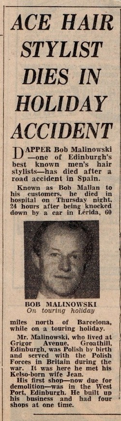 Report of our Father's Fatal Accident in the Evening News.