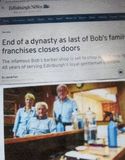 Bob's closing for the last time, highlighted on the