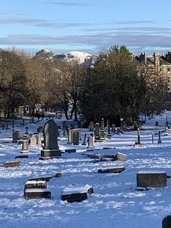 Morningside Cemetery after a fresh fall of snow