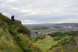 Taking the shot - Salisbury Crags