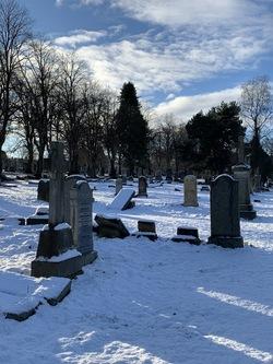Morningside Cemetery under snow