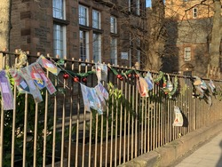 Decorated railings at South Morningside Primary School