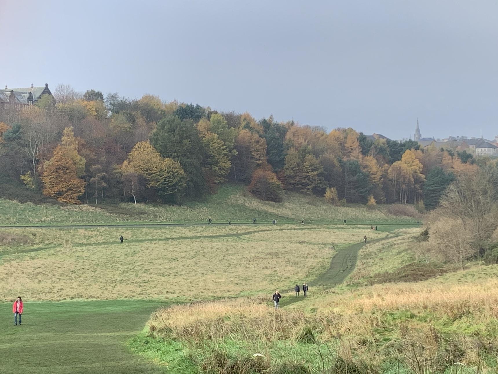 Holyrood Park with Autumn colours