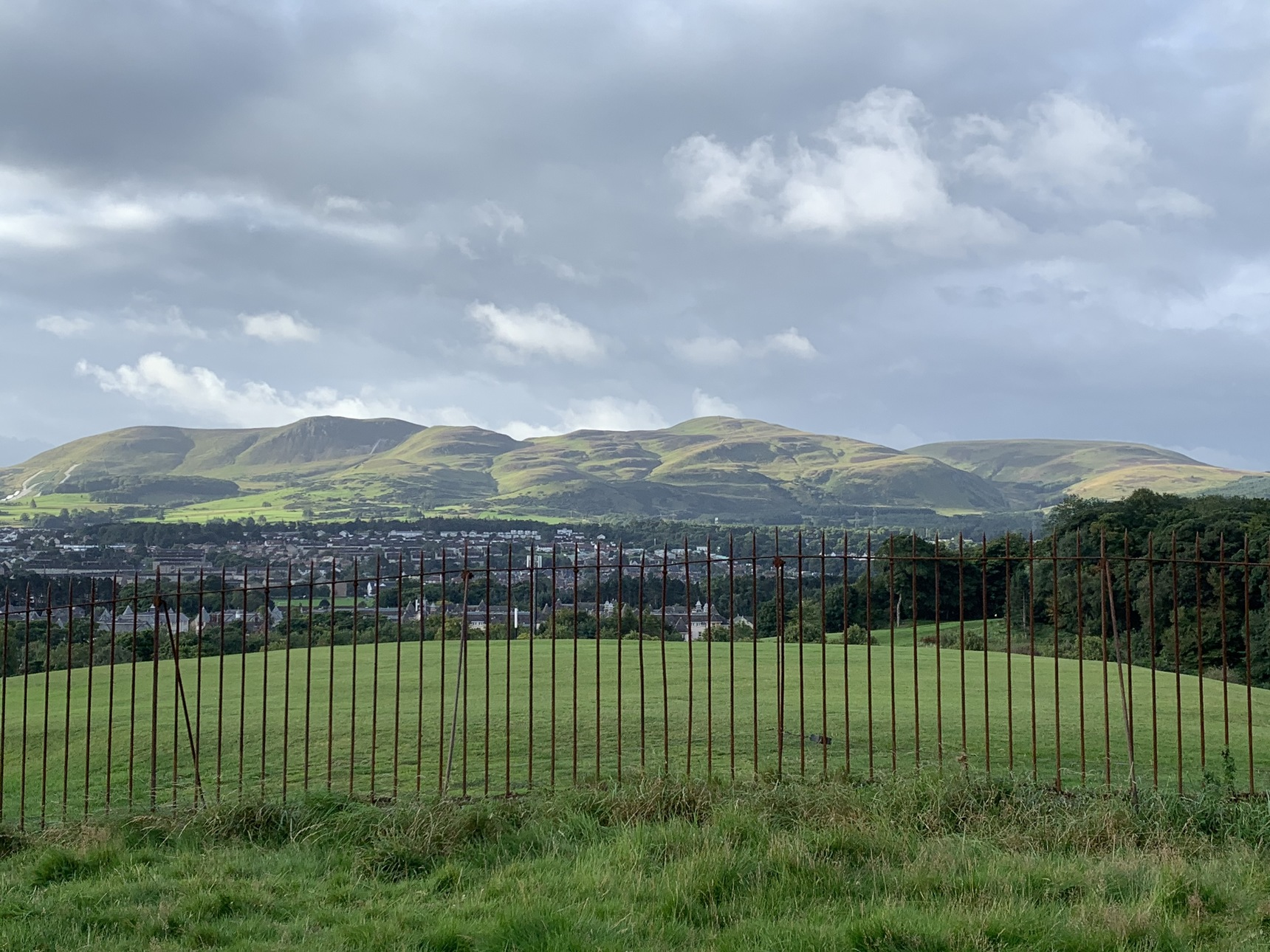 View of Pentland Hills from Craiglockhart Hill East