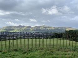 View of Pentland Hills from Craiglockhart Hill East