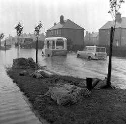 Broomhouse floods in 1965.