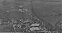 Broomhouse Estate during construction in 1949