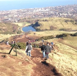 The climb down from Arthur's Seat