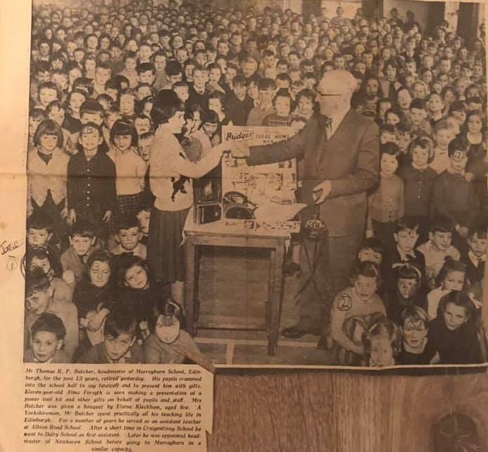 Murrayburn Primary School - Headmaster Retiral 1959