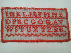 An embroidery sampler