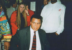Meeting Muhammad Ali at Waterstones book signing