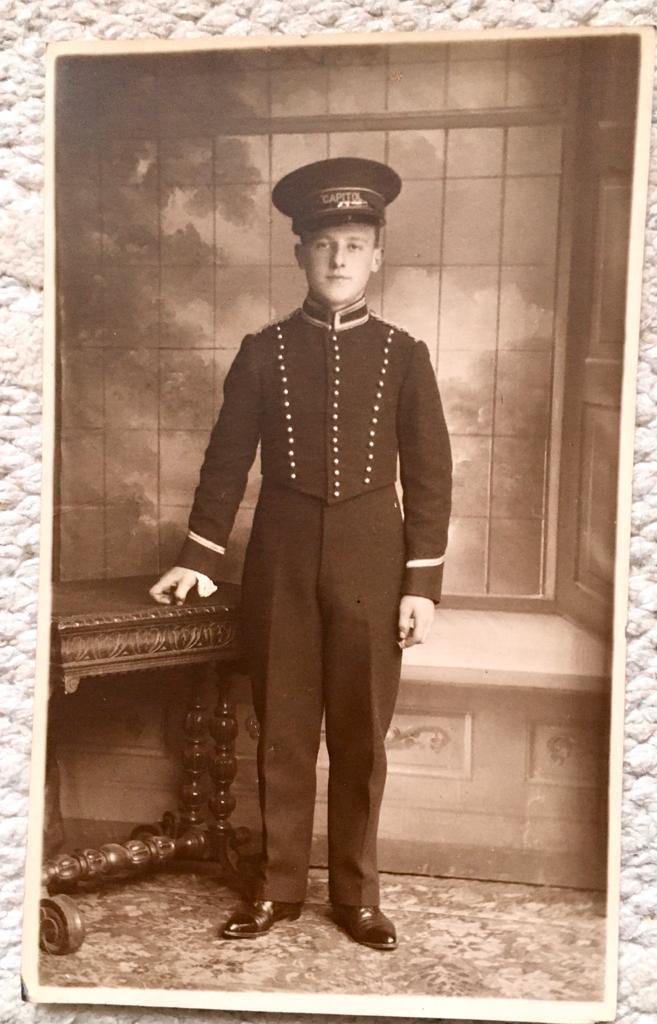 Stanley Vyner Cine page boy aged 15