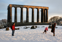 National Monument on a winter's day