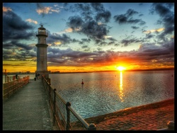 Sunset at Newhaven Harbour