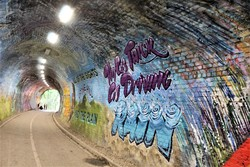 Mural in Colinton Tunnel.
