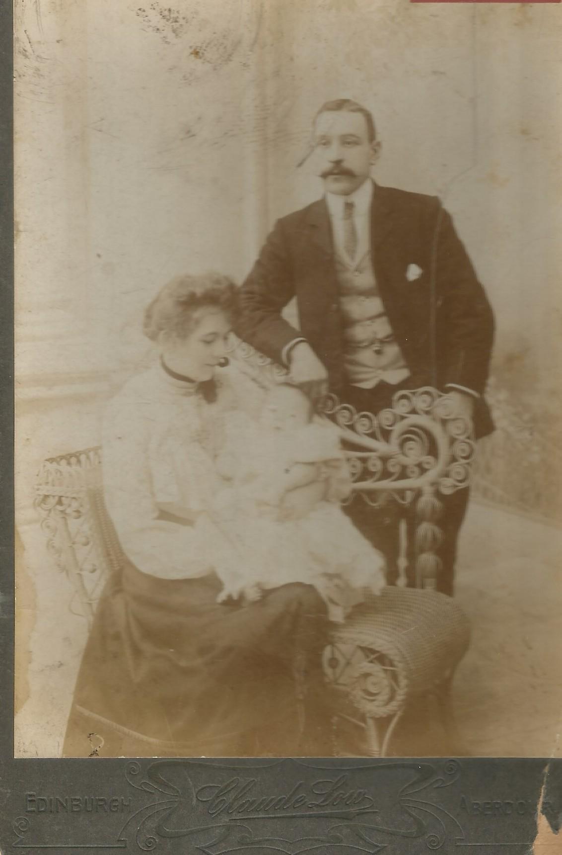 Granny & Grandad Bain with their newborn