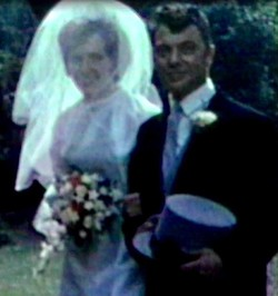 This is my Sister Marjory's Wedding with my Brother Ian giving her away.