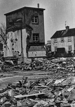 Demolition of St Josephs Primary School Broomhouse 1980s