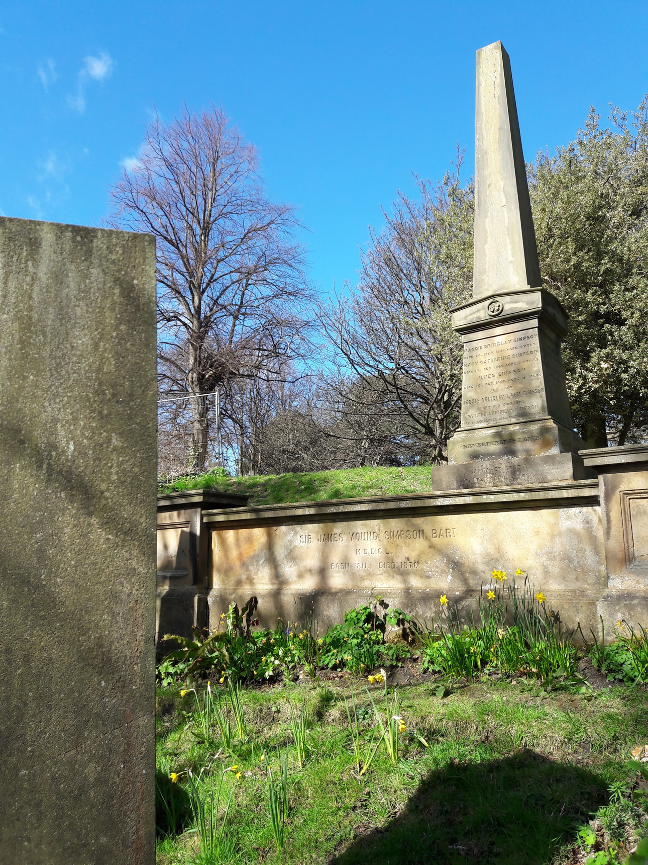 James Young Simpson memorial at Warriston Cemetery
