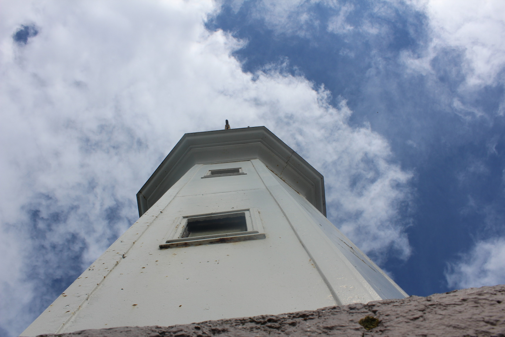 The lighthouse from above