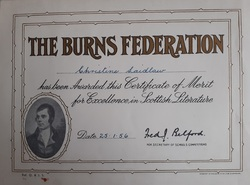 Burns Scottish Literature Certificate