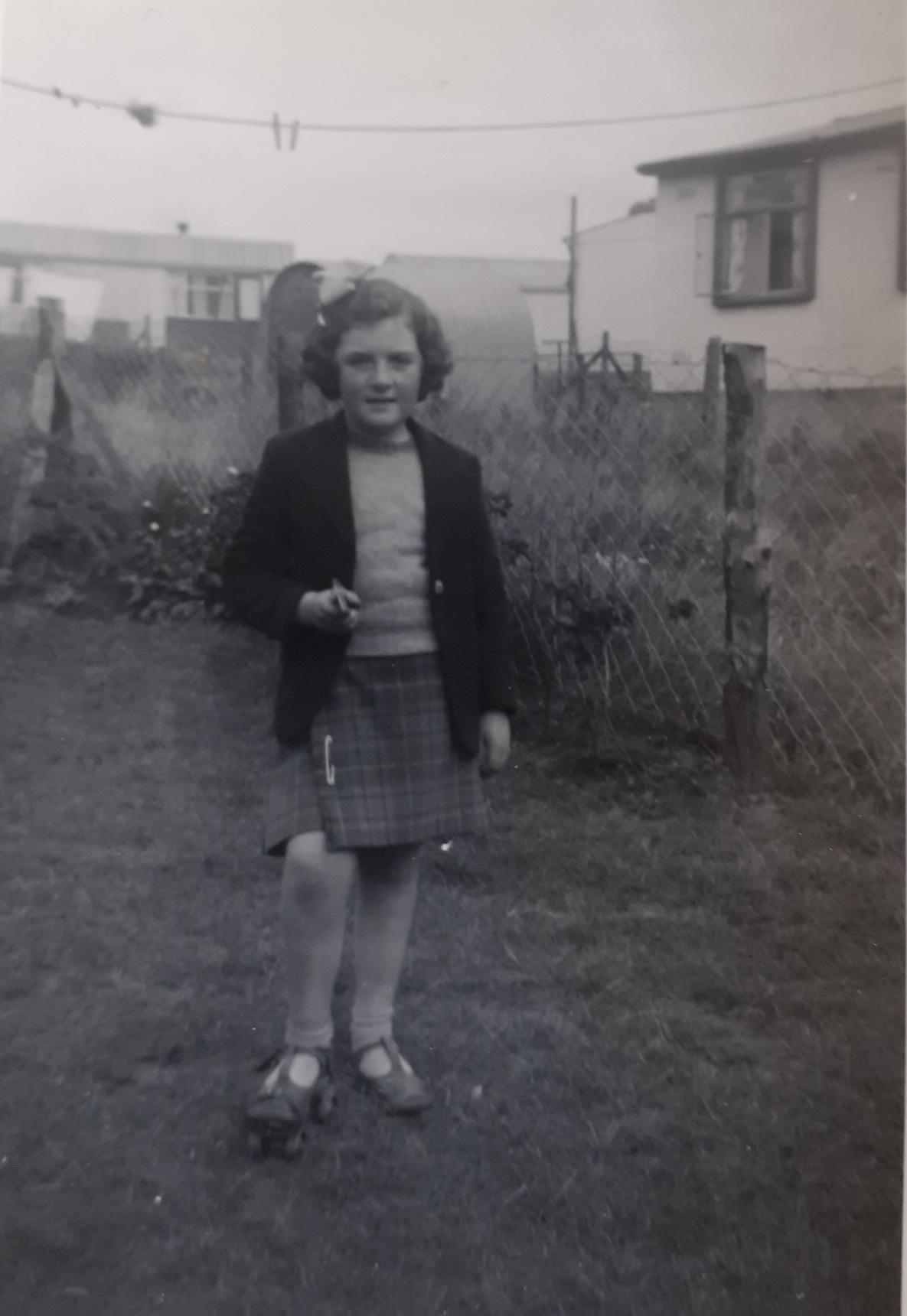 Back Garden of 11 Calder Drive Sighthill 1952