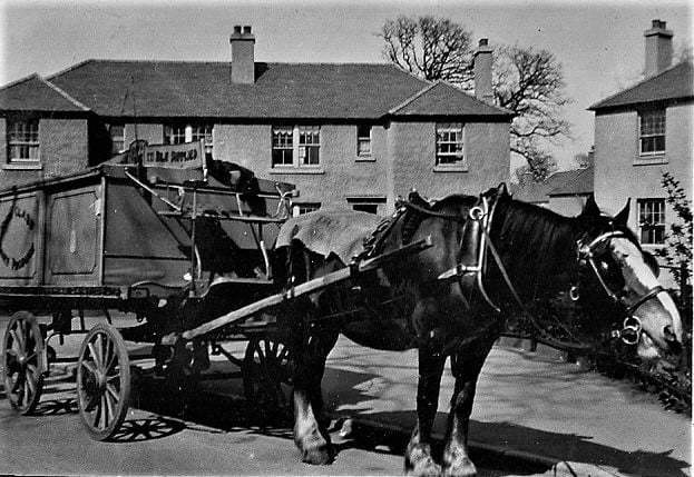Milk delivery in the 1950s