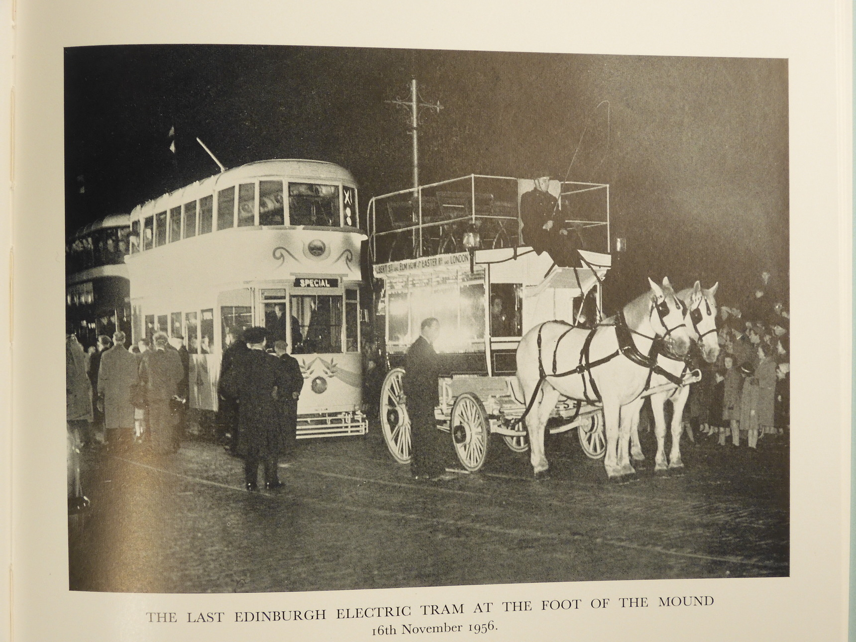 St Cuthbert's horses & the last Electric Tram
