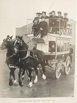 St Cuthbert's Horses pulling horse tram