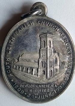 South Leith Parish Church Tercentenary Commemorative Medallion 1909