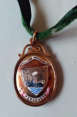 Councillor Malcolm Smith's Leith Town Council Medallion c.1914