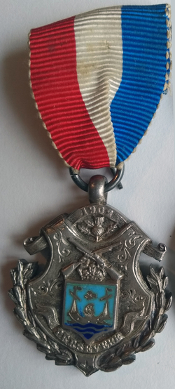 Boer War Medal Presented By The Town Council And Citizens Of Leith For Service In The South African War 1902