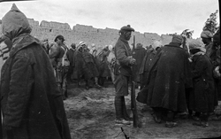 Soldiers Of The 7th Royal Scots Guarding Turkish Prisoners At El Arish In The Sinai 1916