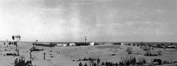 El Arish In The Sinai Just After Capture, 7th Royal Scots In Foreground 1916