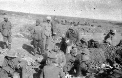 Soldiers Of The 7th Royal Scots Sorting Out Mail At Rest Camp On Cape Helles c.1915