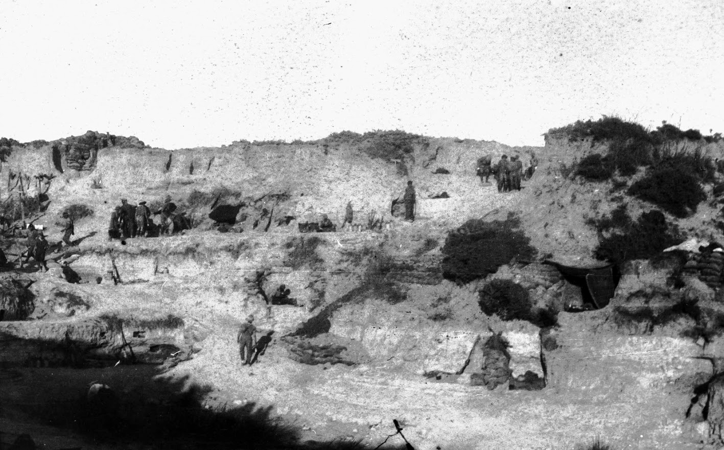Soldiers Encamped At The Head Of Krithia Nullah On The Gallipoli Peninsula c.1915