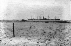 Looking Back From Canal Defences As Ship Passes Through The Suez Canal c.1916