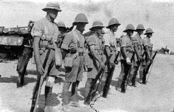 Lewis Gun Team Of The 7th Royal Scots, Prior To The Third Battle Of Gaza 1917